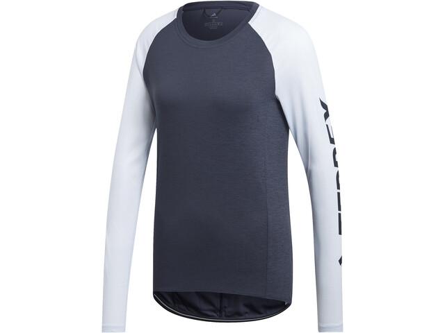 adidas TERREX TrailCros LS Shirt Damen legend ink/black